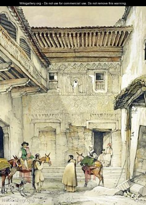 Court of the Mosque - John Frederick Lewis