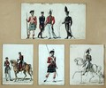 The uniforms of Scottish soldiers and Prussian - Pierre Antoine Lesueur
