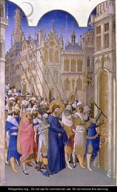 The Passion Christ being led to Pontius Pilate - Pol de Limbourg