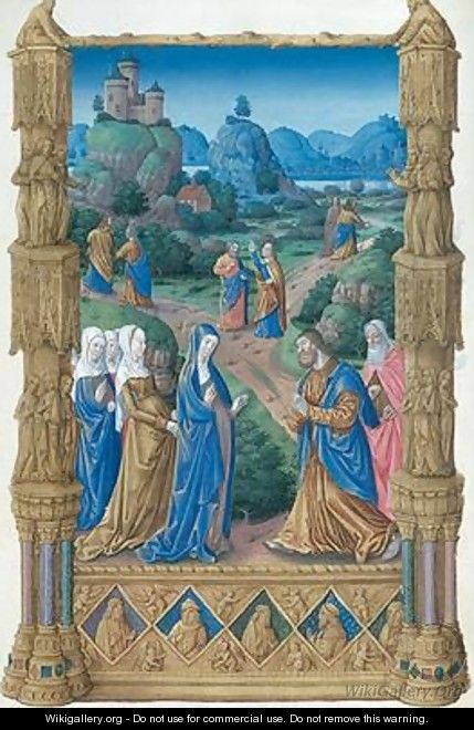 The Apostles leaving the Virgin to spread the Word of Christ - Pol de Limbourg