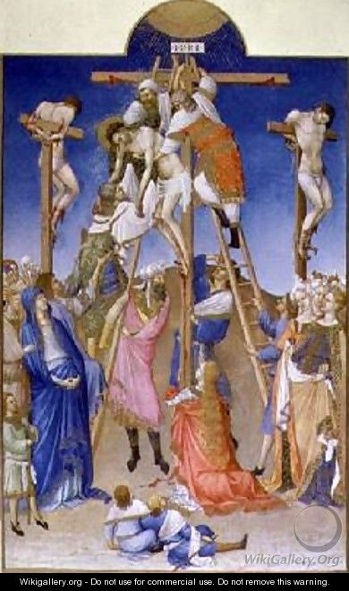 The Deposition from the Cross from Tres Riches Heures du Duc de Berry - Pol de Limbourg