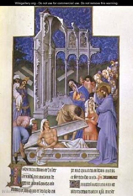 The Resurrection of Lazarus - Pol de Limbourg