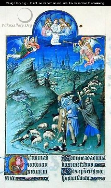 The Annunciation to the Shepherds - Pol de Limbourg