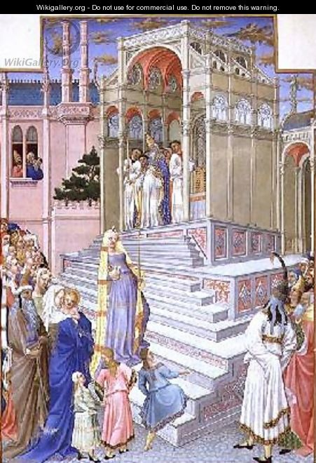 The Presentation of the Virgin in the Temple from the Tres Riches Heures du Duc de Berry - Pol de Limbourg