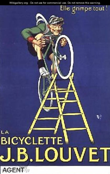 Itll climb anything advertisement for the JB Louvet bicycle - Michel, called Mich Liebeaux