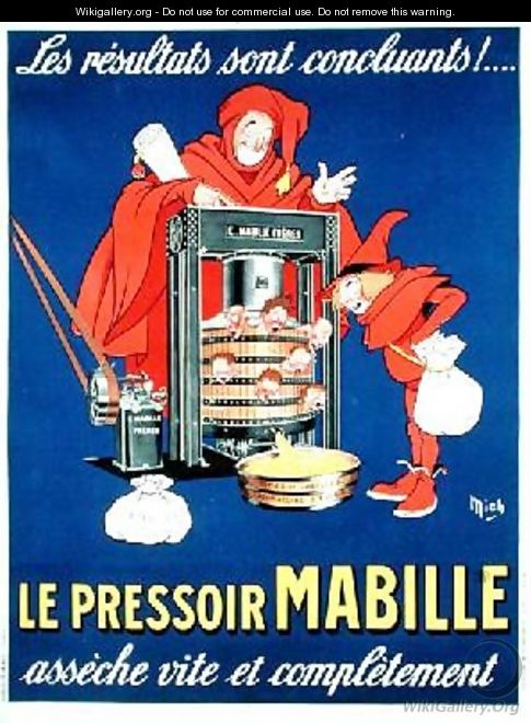 Poster satirising the new taxes - Michel, called Mich Liebeaux