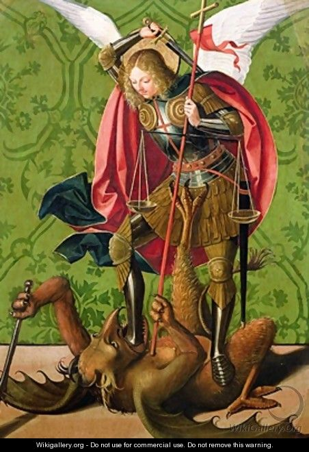St Michael Killing the Dragon - Josse Lieferinxe