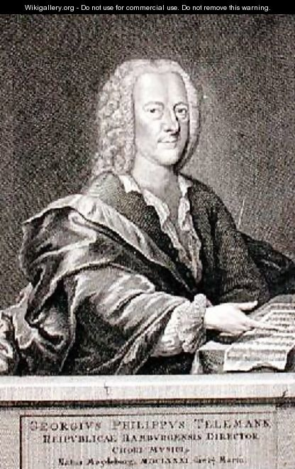 Portrait of Georg Philipp Telemann 1681-1757 2 - Georg Lichtensteger