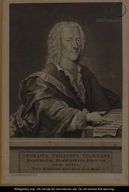 Portrait of Georg Philipp Telemann - Georg Lichtensteger