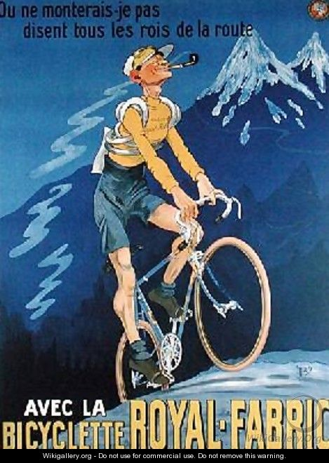 Poster advertising cycles Royal-Fabric 1910 - Michel, called Mich Liebeaux