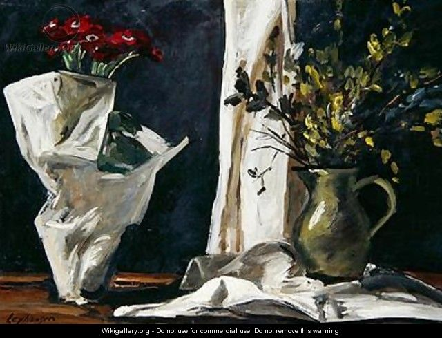 Still Life with Catkins - Karl Leyhausen