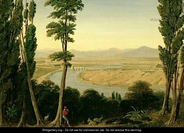 A View of the Tiber and the Roman Campagna from Monte Mario - William Linton