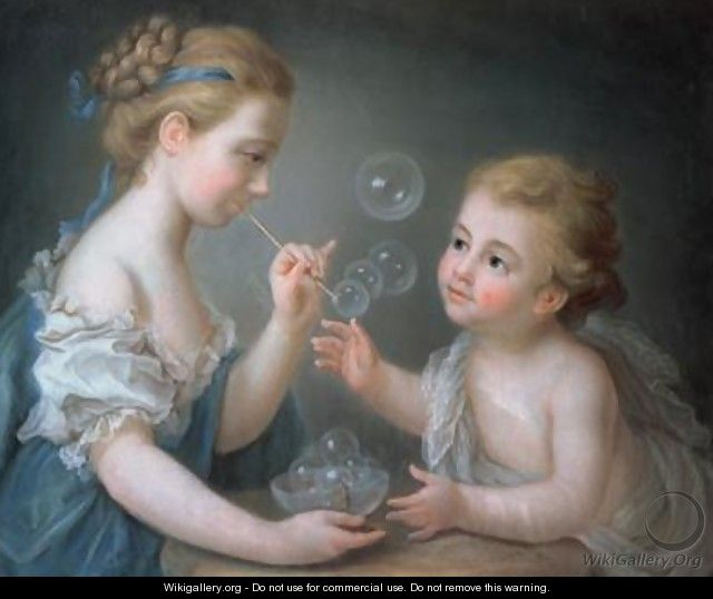 Children blowing bubbles - Etienne Liotard