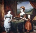 Portrait of Mrs Darling and two of her children 1825 - John Linnell