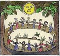 Circle of Witches dancing Beneath a Full Moon - William Linnell