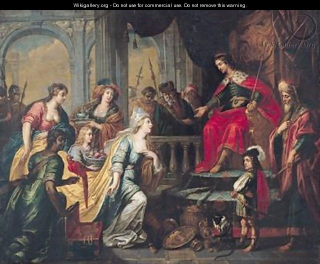 The Queen of Sheba before Solomon - Pieter van Lint
