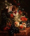 Still Life of Fruit and Flowers - Johannes or Jacobus Linthorst