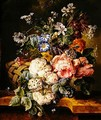 Still life with flowers 1813 - Johannes or Jacobus Linthorst