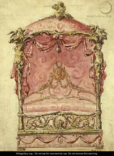 English Design for a Grand Bed 1760 - John Linnell