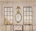 Design for a room by Linnell John 1723-99 - John Linnell
