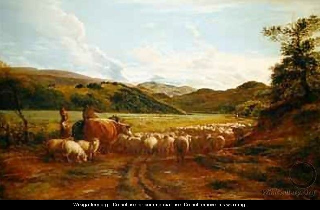 A Fine Evening After Rain a Scene in Wales - John Linnell