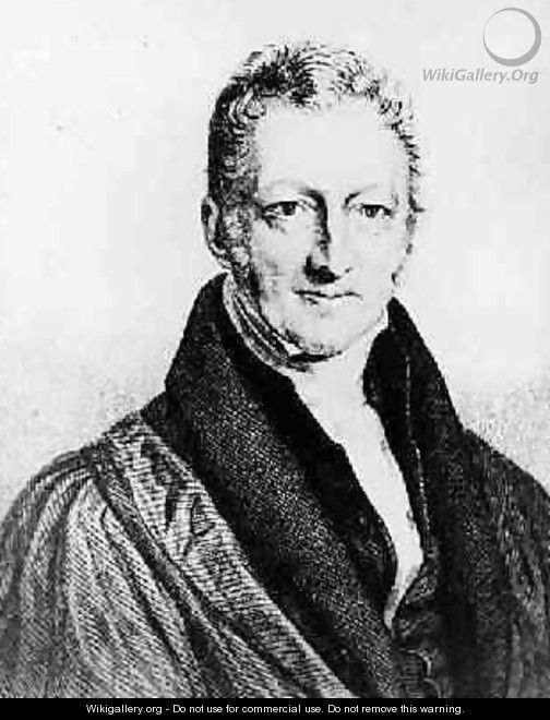 Portrait of Thomas Robert Malthus 1766-1834 - John Linnell