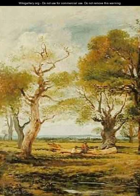 Landscape with Figures 1816 - John Linnell