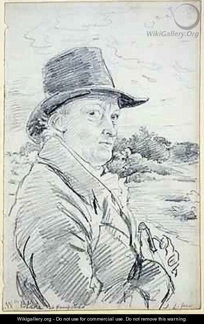William Blake Wearing a Hat - John Linnell