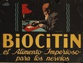 Spanish advertisement for Biocitin nerve medicine 1908 - Hans Lindenstaedt