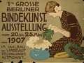 German advertisement for a floristry exhibition in Berlin - Hans Lindenstaedt