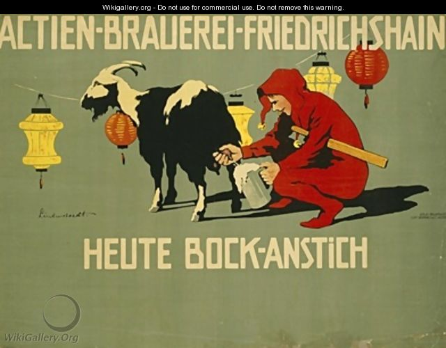 German advertisement for Bock beer - Hans Lindenstaedt