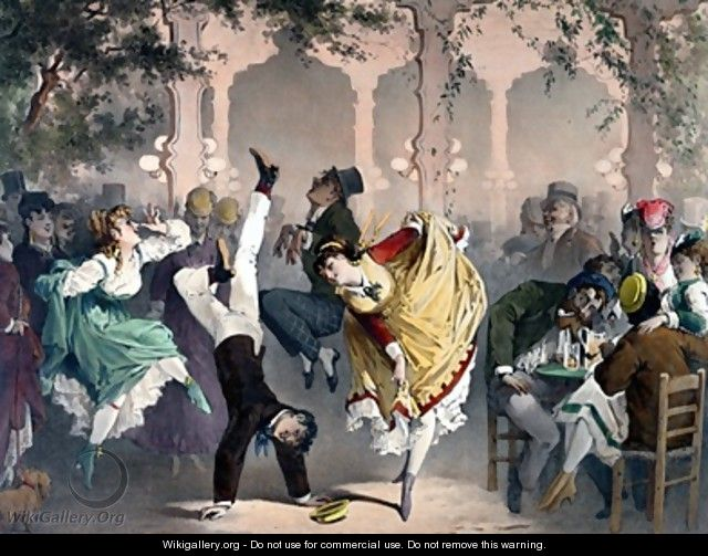 Quadrille at the Bal Bullier - Philippe Jacques Linder