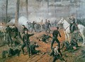 Captain Hickenloopers battery in the Hornets Nest at the Battle of Shiloh April 1862 - T. C. Lindsay