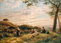 Shepherd Boys tending their Flock at Sunset 1889 - James Thomas Linnell