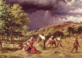 A Thunder Shower 1859 - James Thomas Linnell