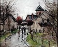 A Small Village under the Rain - Gustave Loiseau