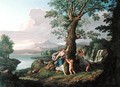 River Landscape with a Nymph Plucking a Branch from a Bleeding Tree - Andrea Locatelli