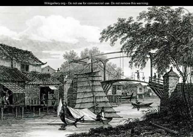 Drawbridge at Malacca - (after) Locker, Edward Hawke
