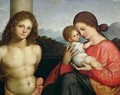 Madonna and Child with St Sebastian - Giovanni Agostino Da Lodi