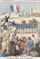 The Raising of the French Flag at Timbuktu - Frederic-Theodore Lix