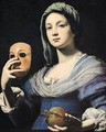 Woman with a Mask 2 - Lorenzo Lippi