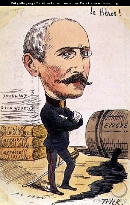The Hero cartoon of Captain Alfred Dreyfus 1859-1935 - Gabriel (Trick) Liquier