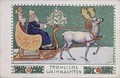 Postcard depicting Father Christmas on his sleigh - Wilhelm List