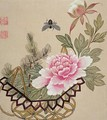 One of a series of paintings of flowers and insects 3 - Hua Liu