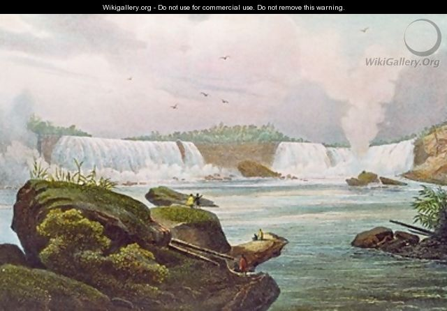General View of Niagara Falls from the Canadian Side - (after) Milbert, Jacques