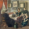 Pastor Johann Wilhelm Rautenberg and his Family 1833 - Carl Julius Milde