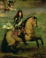 Equestrian Portrait of Louis XIV 1638-1715 Crowned by Victory 1692 - Pierre Mignard