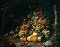 Fruit basket - Abraham Mignon