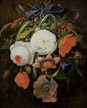 Still Life of Hanging Flowers - Abraham Mignon