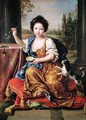Marie-Anne de Bourbon 1666-1739 Mademoiselle de Blois Blowing Soap Bubbles - Pierre Mignard
